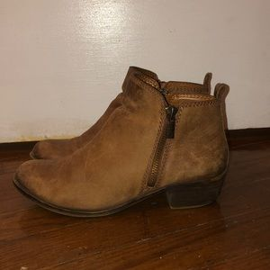 Lucky brand real leather ankle boots